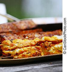 barbecue, carne