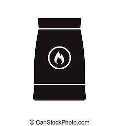 Barbecue Coal Bag Icon