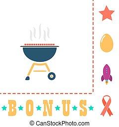 barbecue computer symbol