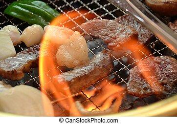 barbecue, coréen, yakiniku