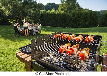 barbecue, cortile posteriore