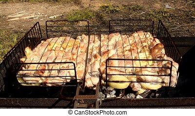 barbecue, cuisine, viande