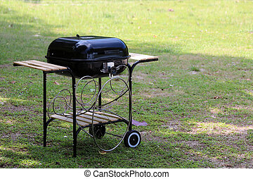Barbecue equipment for grilled food in the garden.