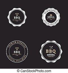 barbecue, etichetta