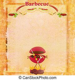 barbecue, fête, invitation