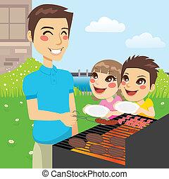 barbecue, familie gilder