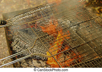 Barbecue Fire Grill close-up
