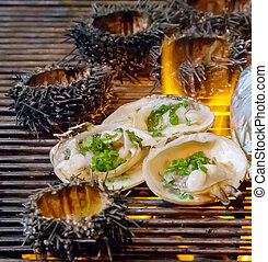 Barbecue Fire Grill Shellfish molluscs