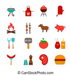 Barbecue Food Objects