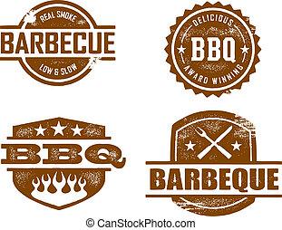 barbecue, frimärken