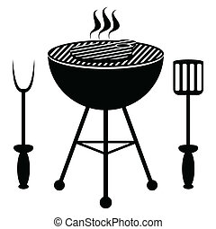barbecue, frit, bifteck boeuf