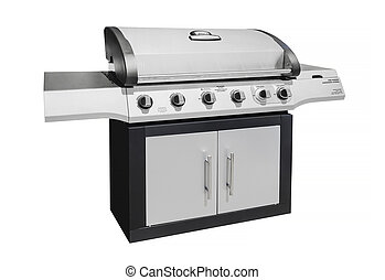 Barbecue gas grill, isolated