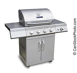 Barbecue gas grill, isolated - Barbecue gas grill in...