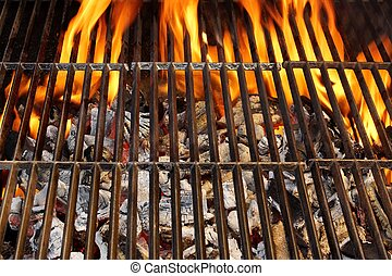 Barbecue Grill and Burning Charcoal, XXXL