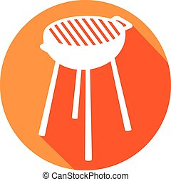 barbecue grill flat icon