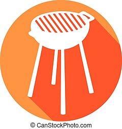 barbecue grill flat icon