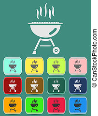 barbecue grill icon Illustration