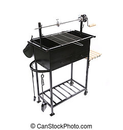 barbecue grill isolated on a white background