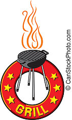 barbecue grill label