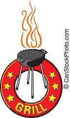 barbecue grill label
