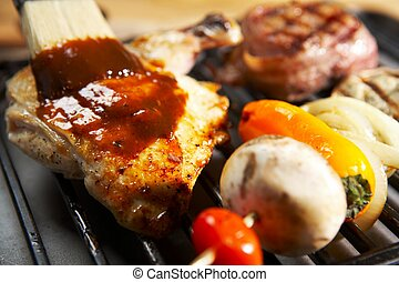 barbecue, -, grill, mat