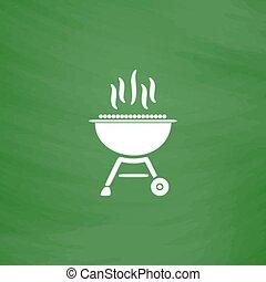 Barbecue  grill menu icon vector illustration