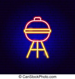 Barbecue Grill Neon Sign