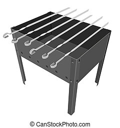 barbecue grill on a white background.