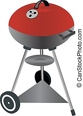 Barbecue grill. Vector illustration isolated on white background.
