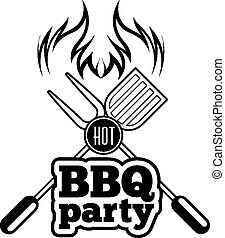 Barbecue grill vector illustration on white background