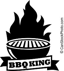 Barbecue grill with BBQ king