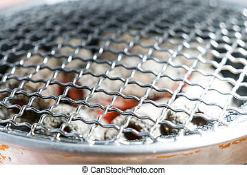 Barbecue Grill with Glowing Coals