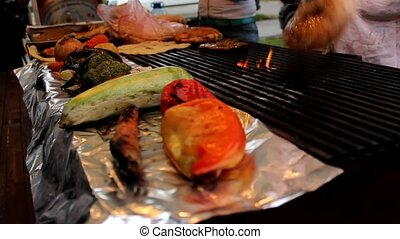 barbecue grilled meat