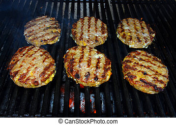 barbecue, hamburger