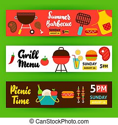 Barbecue Horizontal Banners