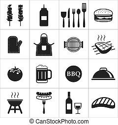 barbecue, icône
