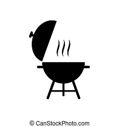 Barbecue icon, bbq vector illustration isolated on white background