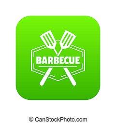 Barbecue icon green