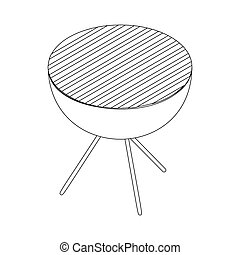 Barbecue icon in isometric 3d style