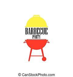 barbecue icon vector , barbecue party symbol