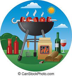 barbecue, icona