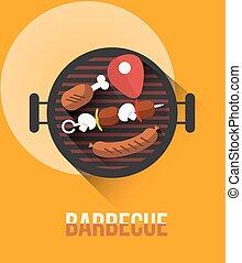 barbecue illustration concept