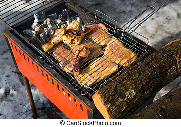 Barbecue in the winter