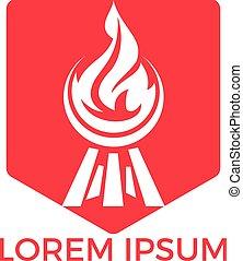 Barbecue logo design. Fresh Steak logo design.