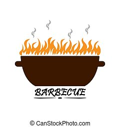Barbecue logo, for menu design and decoration