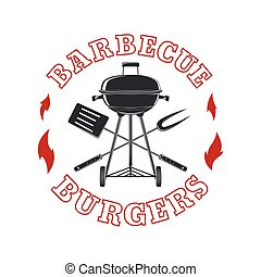 Barbecue logo template.