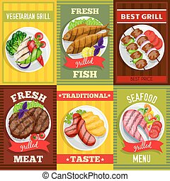 Barbecue Mini Posters Set