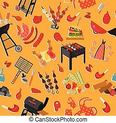 barbecue, modèle, fond, gril
