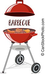 Barbecue or grill party icon