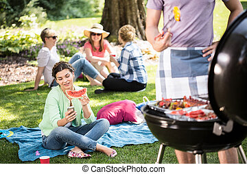 barbecue, parc